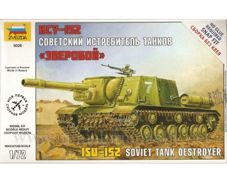 1:72 ISU-152 Soviet tank destroyer