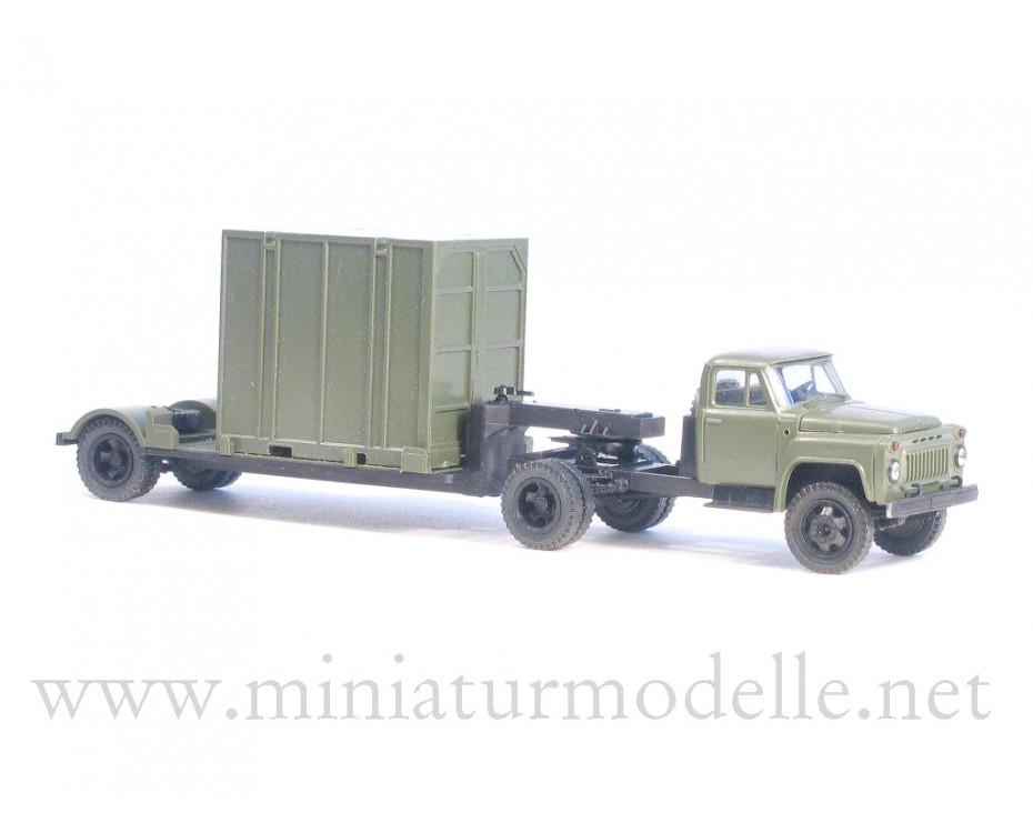 1:87 H0 GAZ 52-06 Solozugmaschine + 5Т. Container Militär