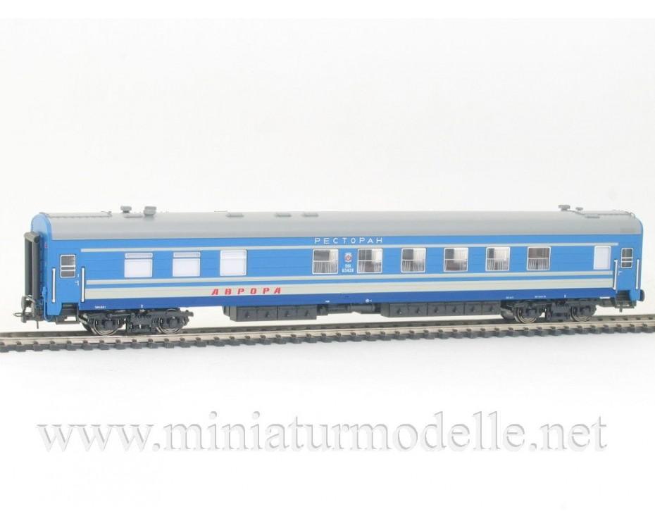 1:87 H0 0232 Weitstrecken- Speise- Schlafwagen Typ Ammendorf Wagenset 2 St., blau, CCCP 4 Epoche