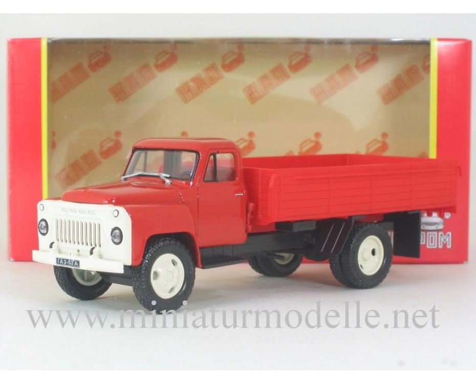 1:43 GAZ 53 A open side, fire, Н259, Nash Avtoprom by www.miniaturmodelle.net