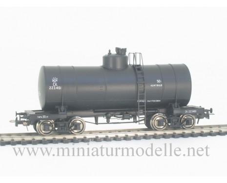 1:87 H0 Kesselwagen 50t zum Transport von Erdöl der CCCP, schwarz 2. Epoche, Kleinserie