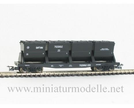 1:120 TT 3821 Muldenkippwagen fur Bitumentransport der RZD, 5 Epoche