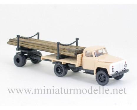 1:87 H0 GAZ 52 mit Holzanhanger 1R3