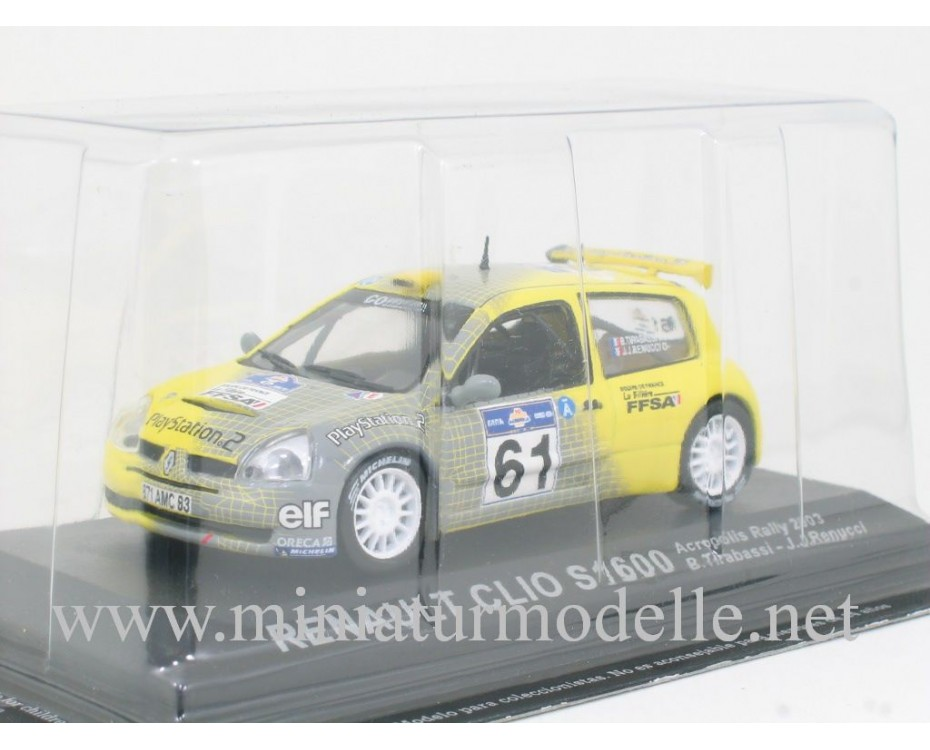 1:43 Renault Clio S1600, Acropolis Rally 2003, B. Tirabassi - J. J. Renucci