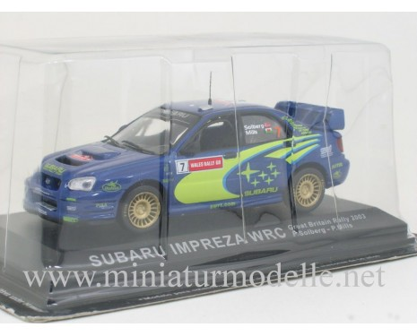 1:43 Subaru Impreza WRC, Great Britain Rally 2003, P. Solberg - P. Mills