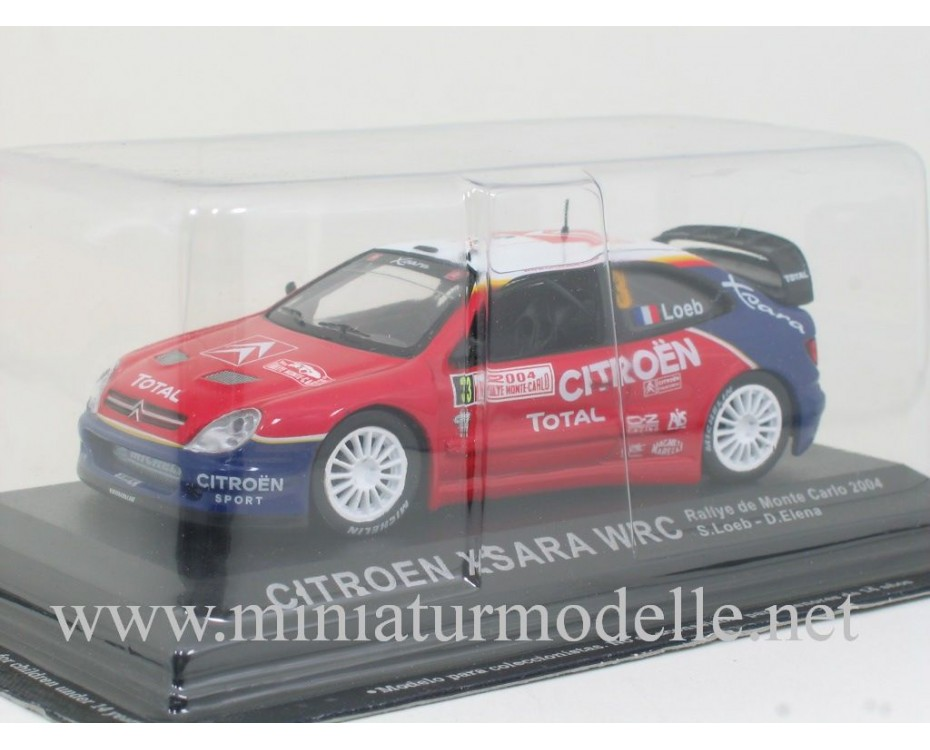 1:43 Citroen Xsara WRC, Rallye de Monte Carlo 2004, S. Loeb - D. Elena