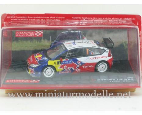1:43 Citroen C4 WRC, Champion Rally cars 2009, S. Loeb - D. Elena