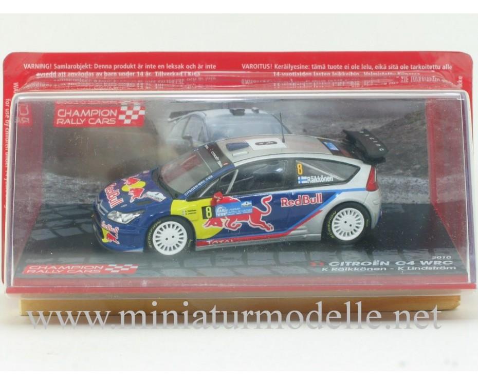 1:43 Citroen C4 WRC, Champion Rally cars 2010, K. Raikkonen - K. Lindstrom