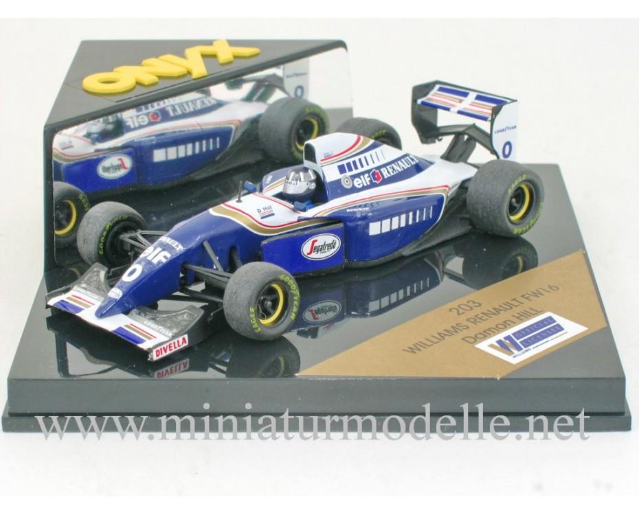 1:43 Williams Renault FW16 #0 Damon Hill, Onyx 203