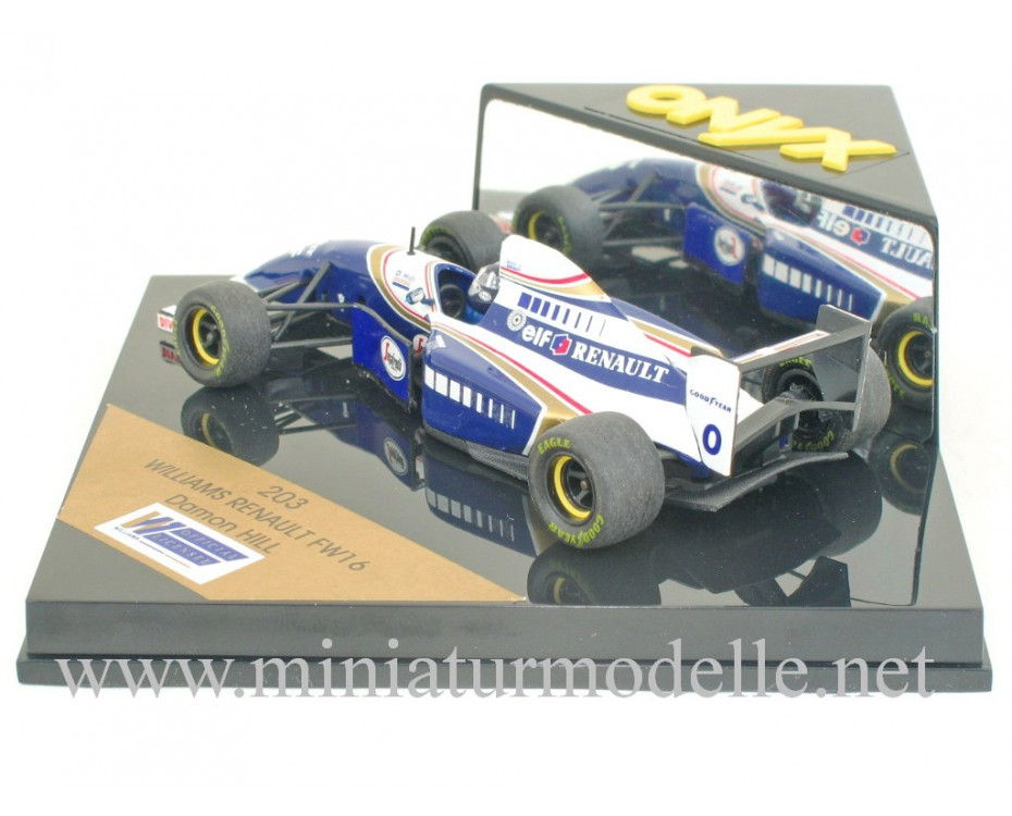 1:43 Williams Renault FW16 #0 Damon Hill, Onyx 203