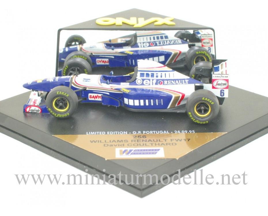 1:43 Williams Renault FW17 #6 David Coulthard, Onyx 256
