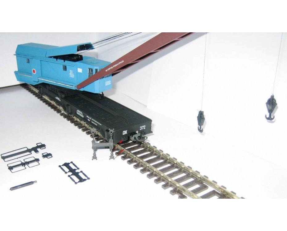 1:87 H0 Railway crane car EDK-25 KIROW, TAKRAF, blue, SZD, 4 Era