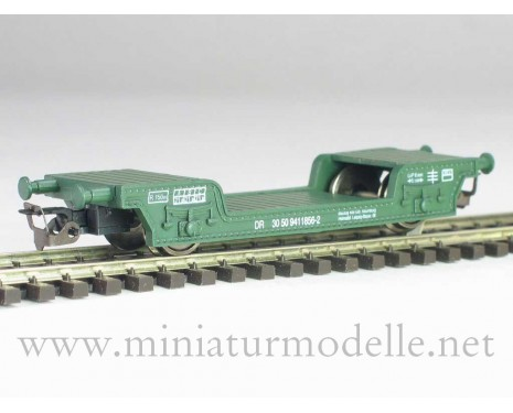 1:120 TT # 3313 Low-loader wagon of the DR type St. geen era 4