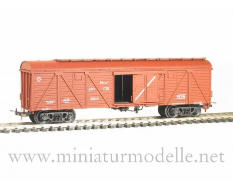 1:87 H0 265 64t. Single door wood box car, #248-629, brown, CCCP, 4 era