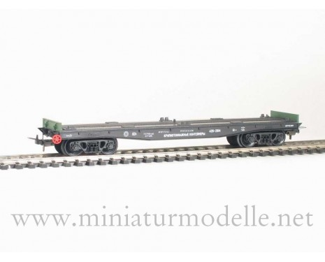 1:87 H0 470 63t. flat wagon without containers, #426-2104, CCCP, 4 Era