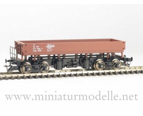 1:120 TT 3612 Zweiseiten-Kastenkippwagen braun, der DR, 4. Epoche