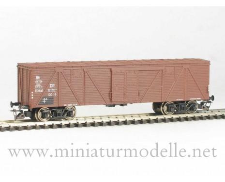 1:120 TT 3511 Gedeckter Güterwagen der DR. Bauart 1936-60, braun, 3 Epoche
