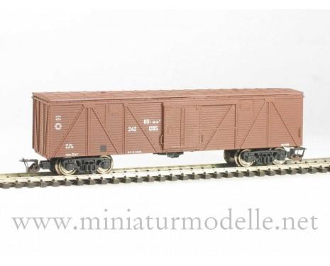 1:120 TT 3512 Single door wood box car of the SZD livery, brown, era 4