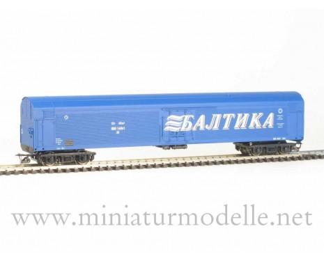 1:120 TT 3923 Refrigerator car ZB-5 BALTICA of the RZD livery, blue, era 5