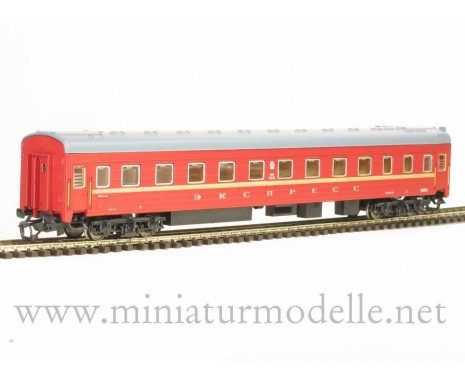 1:120 TT 2024 Long-distance sleeping car type Ammendorf of the Express red livery, CCCP era 4