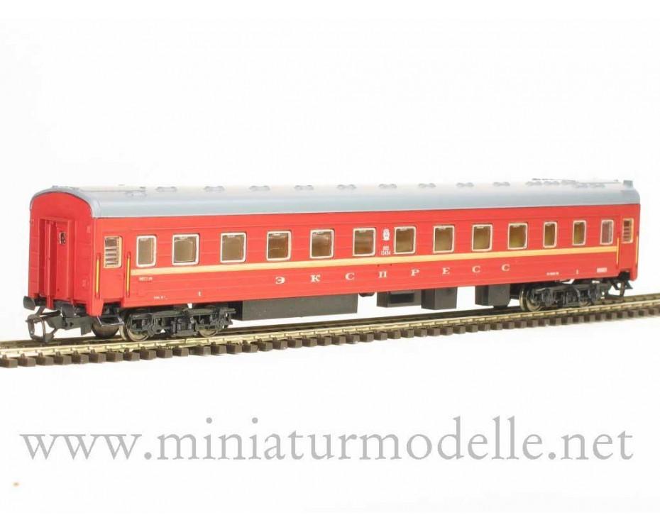 1:120 TT 2024 Weitstrecken- Schlafwagen Typ Ammendorf Wagen Ekspress rot, SZD 4. Epoche