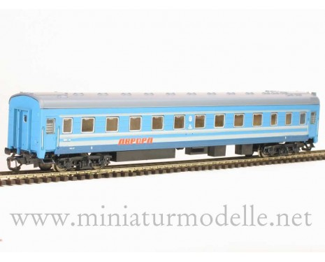 1:120 TT 2031 Long-distance sleeping car type Ammendorf of the SZD AURORA blue, era 4