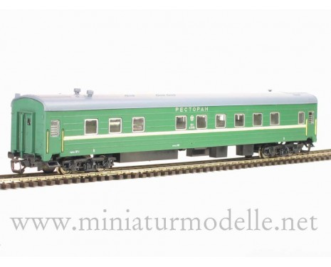 1:120 TT 2214 Restaurant car of the RZD livery, era 5