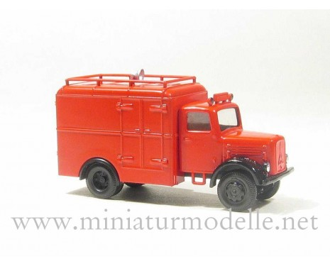 H0 1:87 Klöckner Deutz-Magirus closed side with loudspeaker, fire