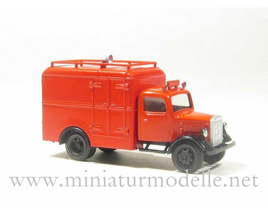 H0 1:87 MB L 3000 Koffer mit Lautsprecher, Feuerwehr